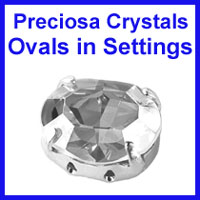 Preciosa Ovals in Settings